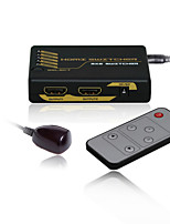 Mini HDMI Intelligent Switch  3X2 with CE FCC RoSH Certificates