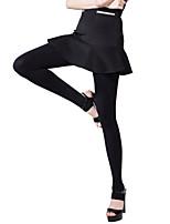Women Solid Color Slim Legging,Velvet Medium