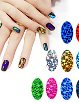 Outras Decorações-Abstracto- paraDedo- dePVC- com1pcs glass starry nail stickers-4cm*7cm each piece