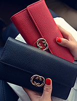 VENETA Women PU Tri-fold Clutch / Wallet / Card & ID Holder-White / Red / Black