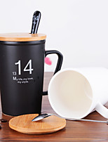 450ML Valentine'S Gift 1314 Couples Cups Black And White Life Dumb Light Ceramic Cup Mug Cup  1PC