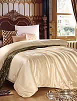 Summer Natural Silk Comforters White Beige Pink