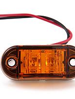 5 X Amber Yellow LED Car Side Marker Indicator Light Lamp Truck Trailer Caravan