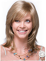 The New Europe and the United States Flax Gold Long Straight Hair Synthetic Wig.