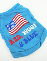 Cães Camiseta / Colete Verde / Azul / Rosa / Púrpura Verão / Primavera/Outono Clássico Fashion-Lovoyager