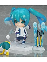 Vocaloid Snow Miku PVC One Size Anime Action Figures Model Toys 1pc 10cm