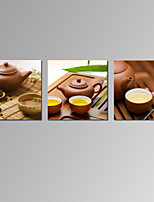 VISUAL STAR®3 Panel Tea Picture Giclee Canvas Prints Still Life Zen Wall Art Ready to Hang