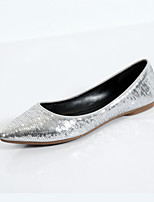 Women's Shoes  Flat Heel Ballerina / Pointed Toe / Closed Toe Flats Dress Black / Silver
