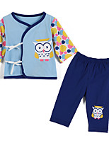 Girl's Blue / Yellow Clothing Set Cotton Spring / Fall