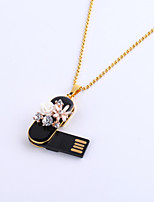 64GB Necklace Flower Jewelry USB 2.0 Rotatable Flash Memory Stick Drive U Disk ZP-08