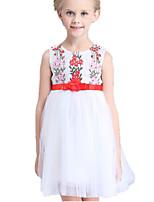 Robe Fille de Eté Coton / Polyester Blanc