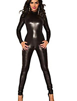 Women's Zentai Backless Leather PVC Catsuit
