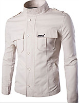 Men's Long Sleeve Jacket,Cotton Casual Solid