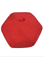 2016 British Style Woolen Pumpkin Octagonal Cap