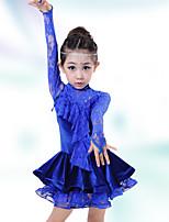 Latin Dance Children's Fashion Lace Performance Cotton Dresses Dance Costumes
