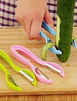 Double-sided Planer knives Cutter Asparagus peelers Peel Vegetable Fruit Potato Peeler(Random Color)