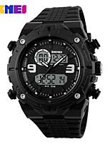 Montre de sport Hommes LCD / Calendrier / Chronographe / Etanche / Double Fuseaux Horaires / Montre de Sport Numérique Numérique