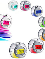 Led Color Changing Light Nature Sound Alarm Clock Calendar Snooze Temperature