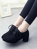 Zapatos de mujer-Tacón Robusto-Tacones-Tacones-Vestido / Fiesta y Noche-Sintético-Negro / Gris