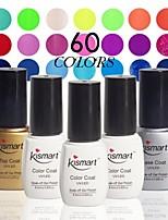 Choose 1 Piece Kismart 6.5ml Soak Off UV Nail Gel Polish 60 Color Gel LED Manicure Gel