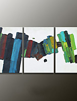 Hand-Painted Abstract Modern Oil Painting,Canvas Three Panels