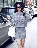 Damen Set - Street Schick Baumwolle / Polyester Medium Langarm