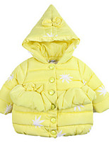 Girl's Blue / Pink / Yellow Down & Cotton Padded Cotton Winter / Fall