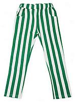 Girl's Black / Brown / Green Pants,Stripes Cotton Spring / Fall