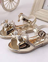 Girls' Shoes Party & Evening / Dress / Casual Wedges / Open Toe Leather Sandals Pink / Gold