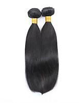1pcs cheveux raides malaysian cheveux humains tisse couleur naturelle 8-26 pouces cheveux vierges