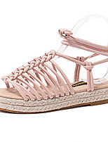 Women's Shoes Leatherette Platform Slingback / Open Toe Sandals Outdoor / Casual Multi-color