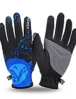NUCKILY Thin Section Breathable Mountain Bike Riding Long Fingerless Gloves Slip Summer Touch