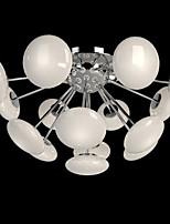 ModernYestaurant Lamp Simple Circular Glass art Pendant Lamp European Style led