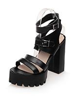Women's Shoes  Chunky Heel Heels / Peep Toe / Platform Sandals Casual Black / White