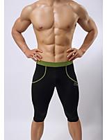 Hombres Carrera Prendas de abajo / Pantalones / 3/4 Medias / Bañadores Fitness / Natación / RunningTranspirable / Alta transpirabilidad /