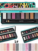 Generation Box kit New 8 Colors Eye Shadow Naked Nude Shimmer Glitter Eyeshadow Palette Makeup Set With Brush &Mirror