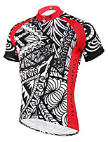 PaladinSport Men 's Short Sleeve Cycling Jersey New Style DX614 red prickles. 100% Polyester