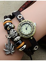 Latest fashion maple leaf punk Bracelet Watch