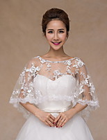 Wedding / Party/Evening Lace / Tulle Ponchos Sleeveless Wedding  Wraps