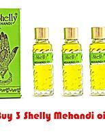 3 Shelly Mehandi Henna Oil Mehndi for Darkening Henna Body Paint Art Kit Tattoo