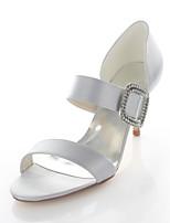 Zapatos de boda-Sandalias-Tacones / Punta Redonda-Boda / Fiesta y Noche / Vestido-Blanco / Plata-Mujer