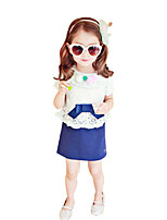 Girl's Cotton Summer Cherry Clique Sweet Style Color Matching Dress