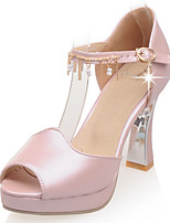 Women's Shoes Spool Heel Heels/Platform/Open Toe Sandals Party & Evening/Dress Blue/Pink/White