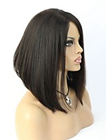 Layered Hair Cut Human Hair Short Glueless Lace Front Bob Wigs For Black Women
