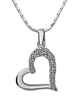 Femme Pendentif de collier Forme de Coeur Plaqué or Cœur Argent Arc-en-ciel Bijoux Pour Mariage Fiançailles 1pc