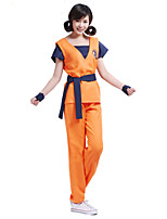 Inspired by Cosplay Cosplay Anime Cosplay Costumes Cosplay Suits Print Orange Short Sleeve Top Pants Belt For