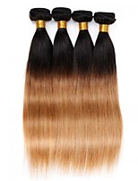 4PCS 12-24 inch Brazilian Straight Hair Ombre #1B27 Color  Human Hair Weaves