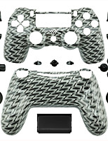 Replacement Controller Case for PS4 Controller (Gray and Black)