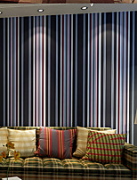 PALUTON Stripe Wallpaper Contemporary Wall Covering,Non-woven Paper Contracted Personality Spell Color Vertical Stripes