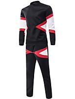 Sets Activewear Uomo Casual Monocolore Manica lunga Cotone